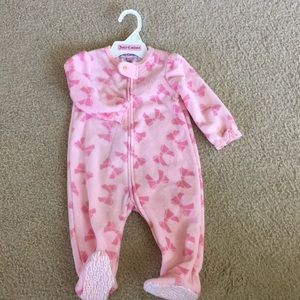 Juicy Couture 6-9 months footed onesie
